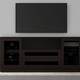 Furnitech 78 FT78CL Transitional TV Console (Dark Brown Wenge)