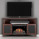 Furnitech 61 FT61SCCFB Corner Electric Fireplace TV Stand (Dark Cherry)