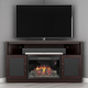 Furnitech 60 FT60CCCFB Corner Electric Fireplace TV Stand (Wenge)