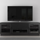 Furnitech 70 FT72CCEB Contemporary TV Stand Media Console (Ebony)
