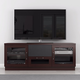 Furnitech 60 FT60CCW TV Stand Media Console (Dark Brown)