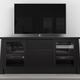 Furnitech 70 Formoso TV Stand Media Console (Ebony)