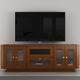 Furnitech 70 FT71CRCLC TV Stand Media Console (Light Cherry)