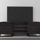 Furnitech 70 FT70ST Art Deco TV Console (High Gloss Black)