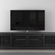 Furnitech 82 FT82WSEB TV Stand Media Console (Ebony Oak)