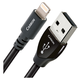 AudioQuest Carbon Digital-Audio USB A to Lightning Connector Cable - 4.92ft. (1.5m)