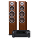 Onkyo TX-RZ630 9.2-Channel Network AV Receiver and KLH Kendall 3-Way Floorstanding Speakers - Pair (Walnut)