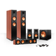 Klipsch 5.1 RP-280 Reference Premiere Speaker Package with R-115SW Subwoofer and a FREE Wireless Kit (Cherry)
