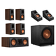 Klipsch RP-600M 5.1.2 Dolby Atmos Home Theater System (Walnut)
