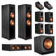 Klipsch RP-8000F 7.1.2 Dolby Atmos Home Theater System (Ebony)