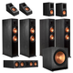 Klipsch RP-8060FA 7.1.4 Dolby Atmos Home Theater System (Ebony)