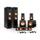 Klipsch 5.2 RP-280 Reference Premiere Speaker Package with R-115SW Subwoofers and two FREE Wireless Kits (Ebony)