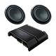 Sony XM-GS100 GS-Series 600-Watt Monoblock Subwoofer Amplifier with pair of XS-GSW121D GS-Series 12 4-Ohm Dual Voice Coil Subwoofers
