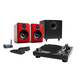 Music Hall USB-1 Turntable Package With Audioengine A2+ Limited Edition Desktop Speakers (Red), S8 Subwoofer, B1 Bluetoo