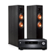 Integra DRX-2.1 7.2 Channel Network A/V Receiver with Klipsch RP-6000F Reference Premiere Floorstanding Speakers - Pair (Ebony)
