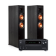 Onkyo TX-RZ630 9.2-Channel Receiver with Klipsch RP-6000F Reference Premiere Floorstanding Speakers - Pair (Ebony)