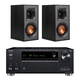 Onkyo TX-RZ630 9.2-Channel Receiver with Klipsch R-41M Reference Bookshelf Speakers - Pair (Black)