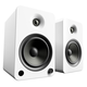 Kanto YU6 Powered Bookshelf Speakers with Built-In Bluetooth - Pair (Matte White)