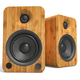 Kanto YU4 Powered Bookshelf Speakers with Built-In Bluetooth - Pair (Bamboo)