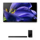 Sony XBR-77A9G 77 BRAVIA OLED 4K UHD Smart TV with HDR and HT-Z9F 3.1-Channel Dolby Atmos Sound Bar with Subwoofer
