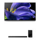 Sony XBR-65A9G 65 BRAVIA OLED 4K UHD Smart TV with HDR and HT-Z9F 3.1-Channel Dolby Atmos Sound Bar with Subwoofer
