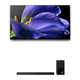 Sony XBR-55A9G 55 BRAVIA OLED 4K UHD Smart TV with HDR and HT-Z9F 3.1-Channel Dolby Atmos Sound Bar with Subwoofer