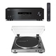 Yamaha R-S202 Bluetooth Stereo Receiver with Audio-Technica AT-LP60XUSB Automatic Belt-Driven Stereo Turntable (Gunmetal)