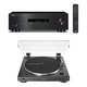 Yamaha R-S202 Bluetooth Stereo Receiver with Audio-Technica AT-LP60XUSB Automatic Belt-Driven Stereo Turntable (Black)