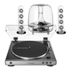 AudioTechnica AT-LP60X-GM Fully Automatic Belt-Drive Stereo Turntable (Gunmetal) with Harman Kardon SoundSticks III 2.1 Plug Play Multimedia Speaker