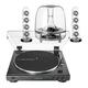 AudioTechnica AT-LP60X-BK Fully Automatic Belt-Drive Stereo Turntable (Black) with Harman Kardon SoundSticks III 2.1 Plug Play Multimedia Speaker