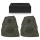Sonos AMP Wireless Hi-Fi Player (Black) with Klipsch AWR-650-SM All Weather 2-Way Speaker - Pair (Granite)