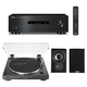Yamaha R-S202 Bluetooth Stereo Receiver with Audio-Technica AT-LP60X-BK Fully Automatic Belt-Drive Stereo Turntable (Black) Polk TSi100 Bookshelf Speakers -