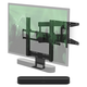 Sonos Beam Compact Smart Sound Bar with Flexson Cantilever Mount (Black)