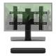 Sonos Beam Compact Smart Sound Bar with Flexson Adjustable TV Stand (Black)
