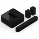 Sonos 5.1 Beam Surround Set with Voice Assistant (Black)