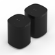 Sonos Two Room Set with One SL Wireless Streaming Speaker (Black)