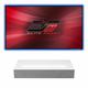 LG HU85LA 4K UHD Laser Smart Home Short Throw Projector with Elite Screens AR-120H CLR Screen