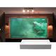 LG HU85LA 4K UHD Laser Smart Home Short Throw Projector with Elite Screens AR-100H CLR Screen