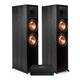 Bluesound Powernode 2i V2 Stereo Speaker System with Klipsch RP-8000F Reference Premiere Floorstanding Speakers - Pair (Ebony)