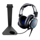 AudioTechnica ATH-G1 Premium Gaming Headset with Kanto H1 Stand (Black)