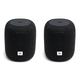 JBL Link Music Compact Smart Speakers - Pair (Black)