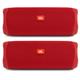 JBL Flip 5 Portable Waterproof Bluetooth Speakers - Pair (Red)