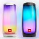 JBL Pulse 4 Portable Bluetooth Speakers - Pair (Black/White)