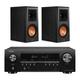 Klipsch RP- 500M Bookshelf Speakers (Ebony) with Denon AVR-S540BT 5.2 Channel AV Receiver