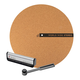 World Wide Stereo Record Care Kit with 12 Modern Series Cork Slipmat, Anti-Static Record Brush, and Stylus Brush