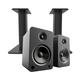 Kanto YU6 Powered Bookshelf Speakers with Bluetooth (Matte Black) with SP9 Desktop Stands (Black)
