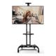 Kanto MTM65PL Mobile TV Mount with Adjustable Shelf for 37-inch to 65-inch TVs (Black)