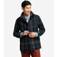 Wool Plaid Car Coat
