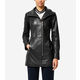Italian Smooth Lambskin Car Coat