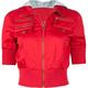 ASHLEY Fleece Hood Womens Twill Jacket